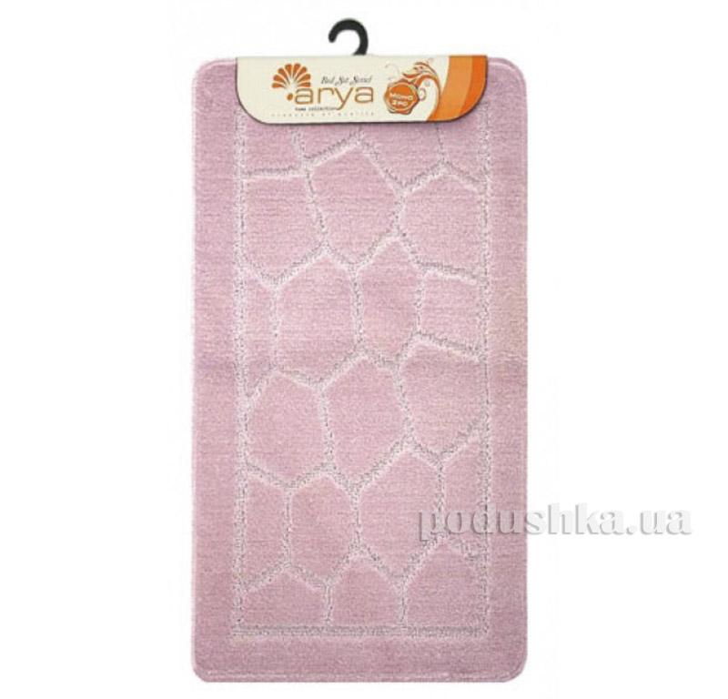 Комплект розовых ковриков для ванной комнаты Mono Arya 1380079