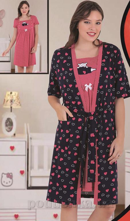 Комплект Sabrina 82811 туника для кормления и халат L  Sabrina