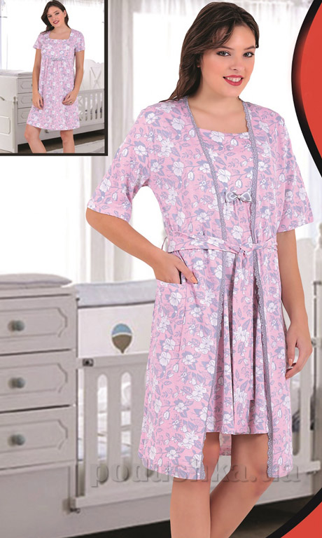 Комплект Sabrina 82813 туника для кормления и халат