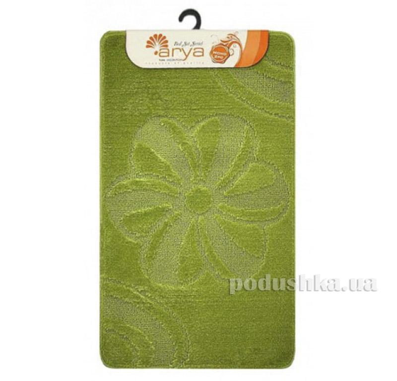 Комплект салатовых ковриков для ванной комнаты Mono Arya 1380077