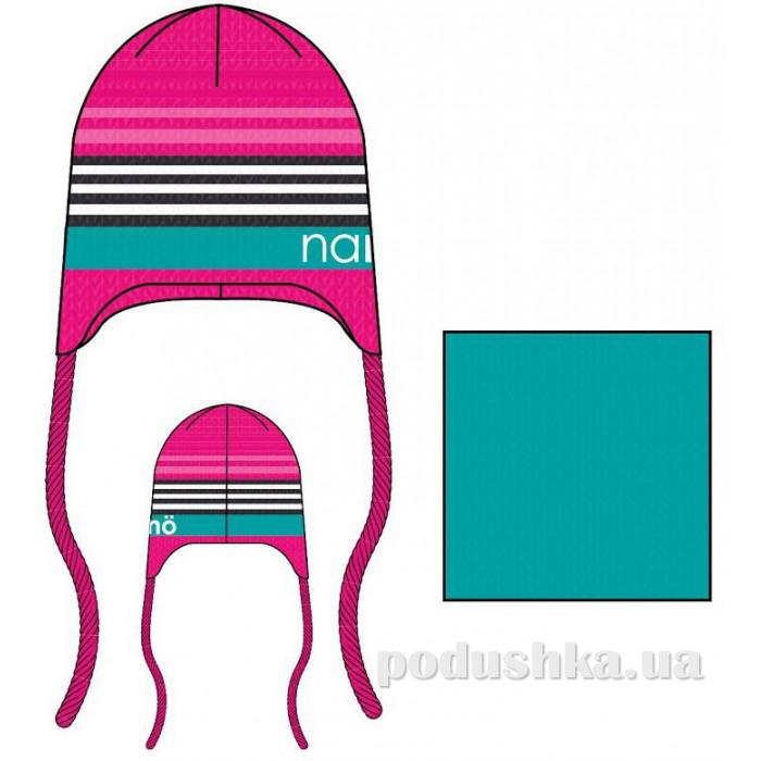 Комплект: шапка и манишка для девочки Nano F14 TC 266 Gerbera
