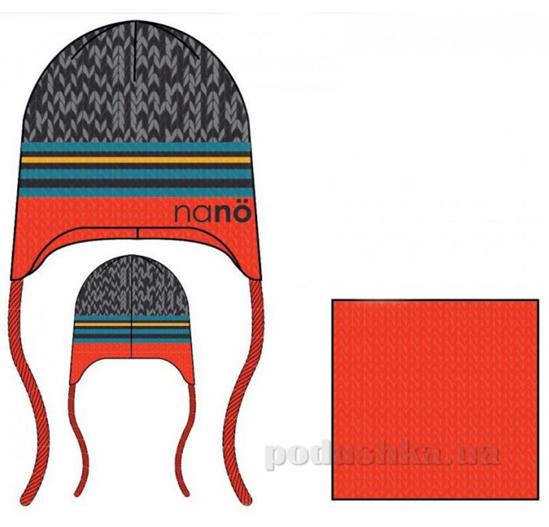 Комплект: шапка и манишка для мальчика Nano F14 TC 267 Orange