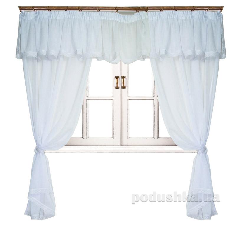 Комплект штор с ламбрекеном Прованс White