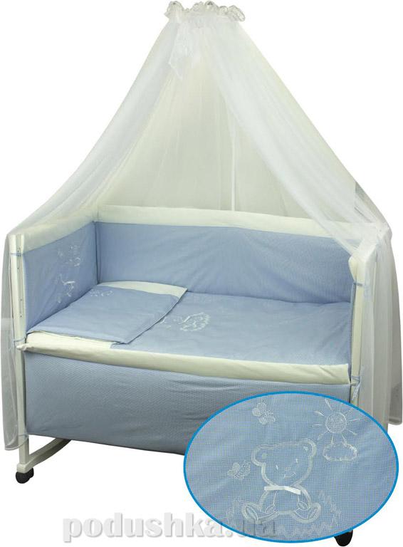Комплект спальный для детской кроватки Руно Дрёма голубой