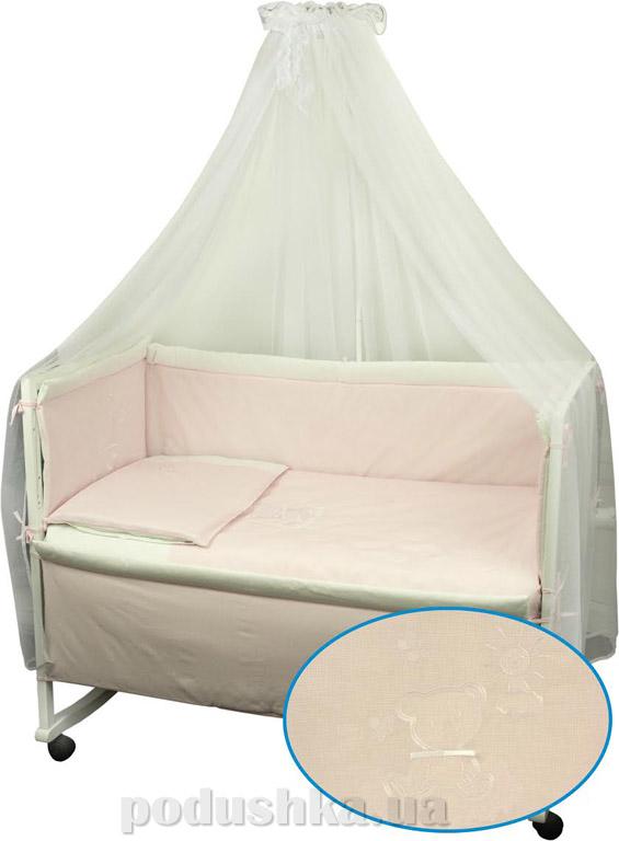 Комплект спальный для детской кроватки Руно Дрёма розовый