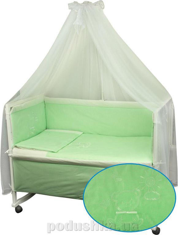 Комплект спальный для детской кроватки Руно Дрёма салатовый