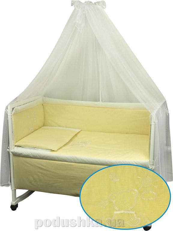 Комплект спальный для детской кроватки Руно Дрёма желтый