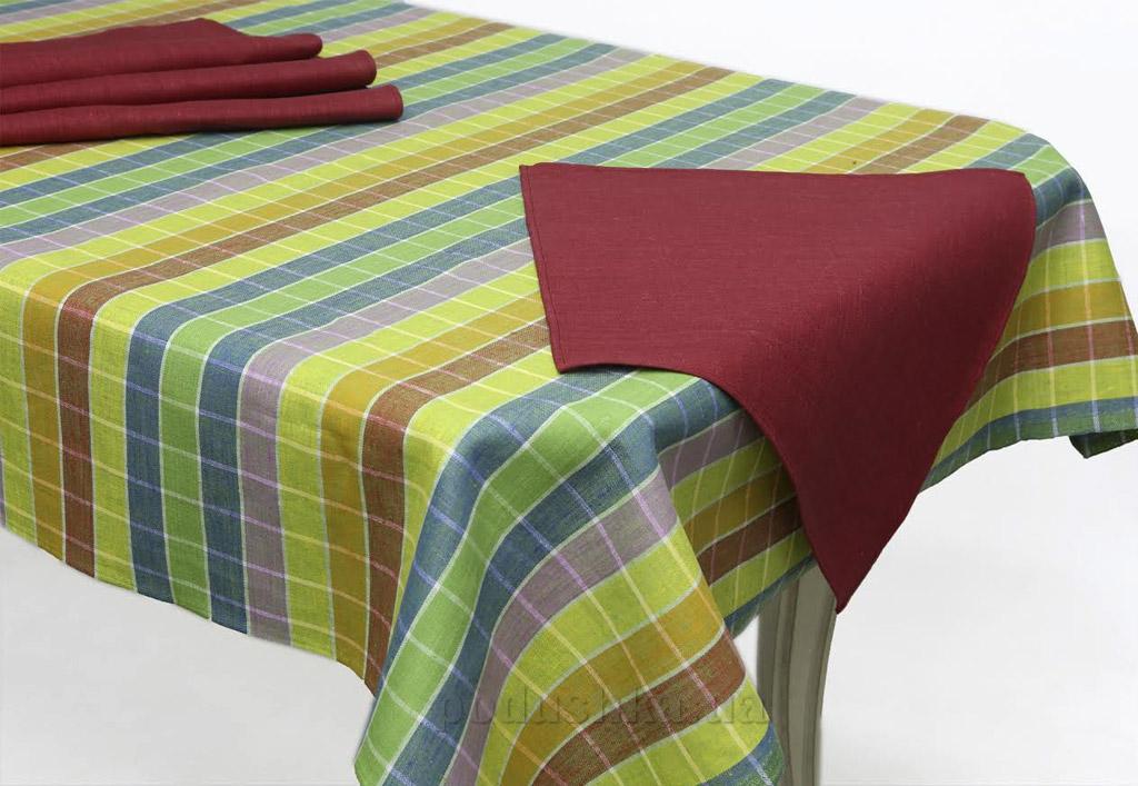 Комплект столовый 10С584-ШР жёлто-бордовый
