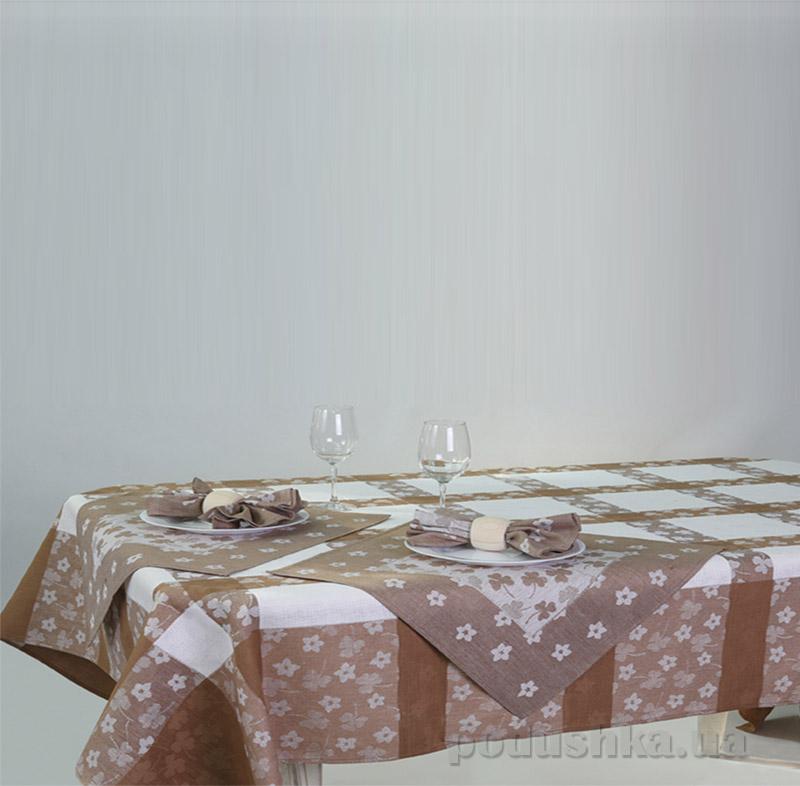 Комплект столовый Белорусский лен 12с520 коричневый