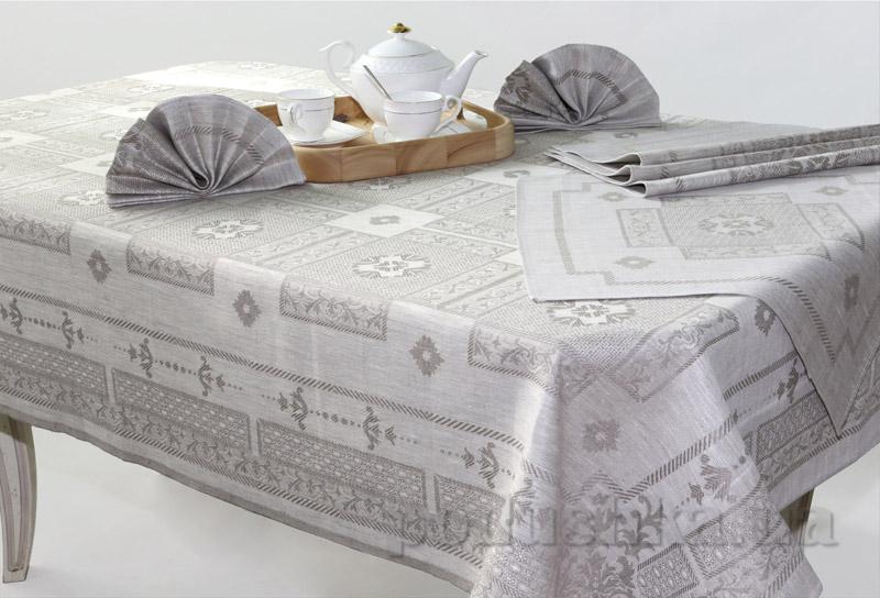 Комплект столовый Белорусский Лен 13С232 Ренесанс 150х150 см  Белорусский лен