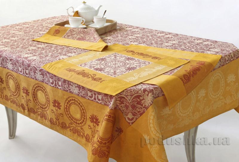 Комплект столовый Белорусский лен Канцона 13с134-ШР оранжевый