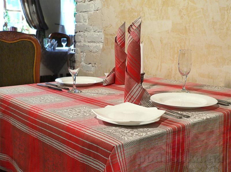 Комплект столовый Клюква 12С503-ШР красный