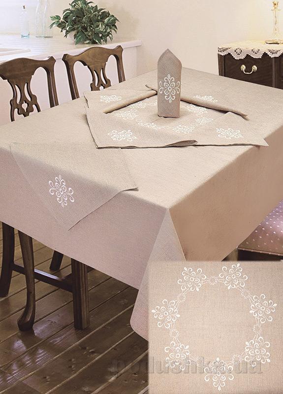 Комплект столовый лен с вышивкой Ярослав cc20