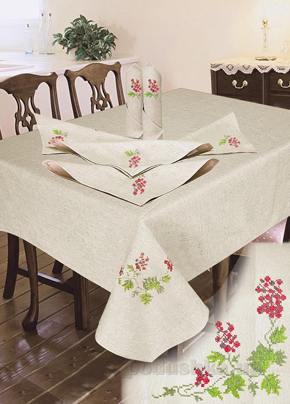 Комплект столовый лен с вышивкой Ярослав cc42