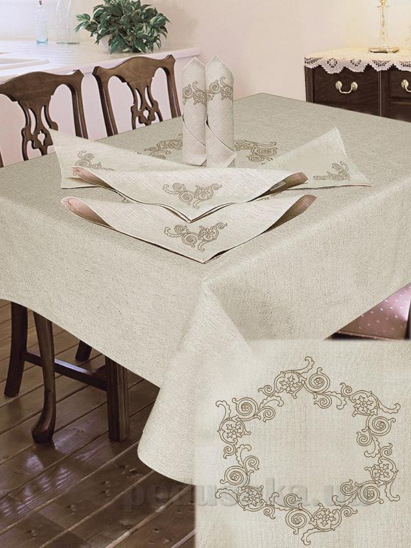 Комплект столовый лен с вышивкой Ярослав cc59