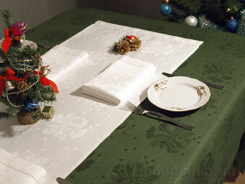 Комплект столовый Новогодний 10с753-ШР зелёный