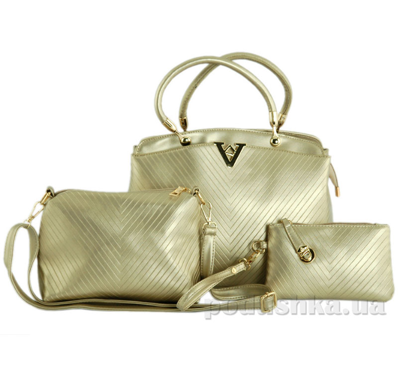 04906851ddde Комплект сумок Traum 7228-18 3шт золотистый купить в Киеве, женские ...
