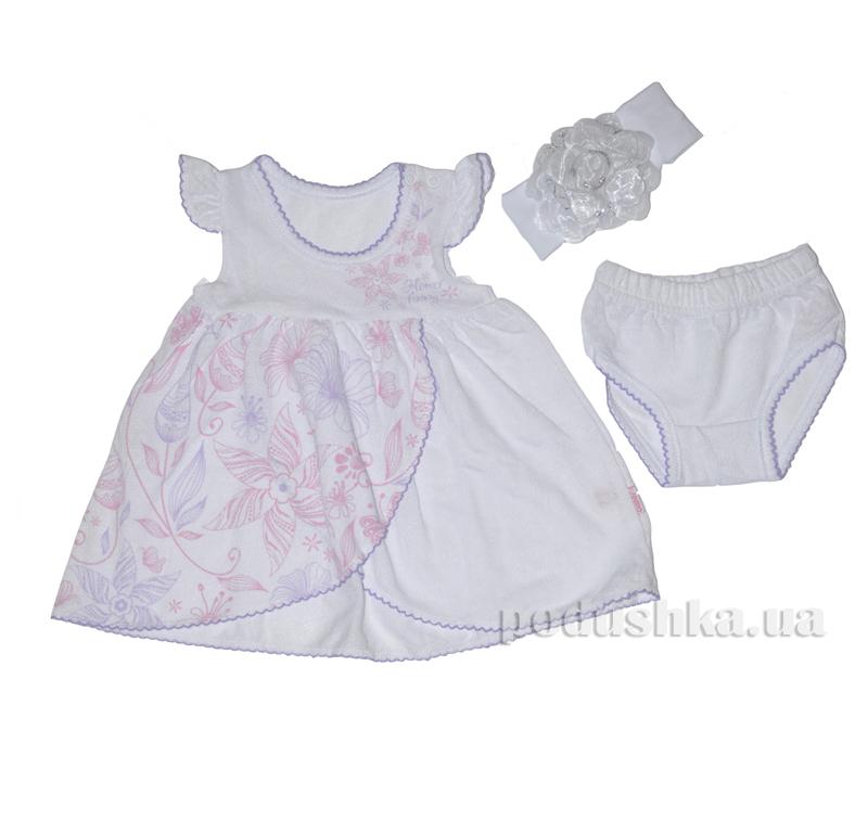 Платье для новорожденной девочки Габби Цветной Узор 00536
