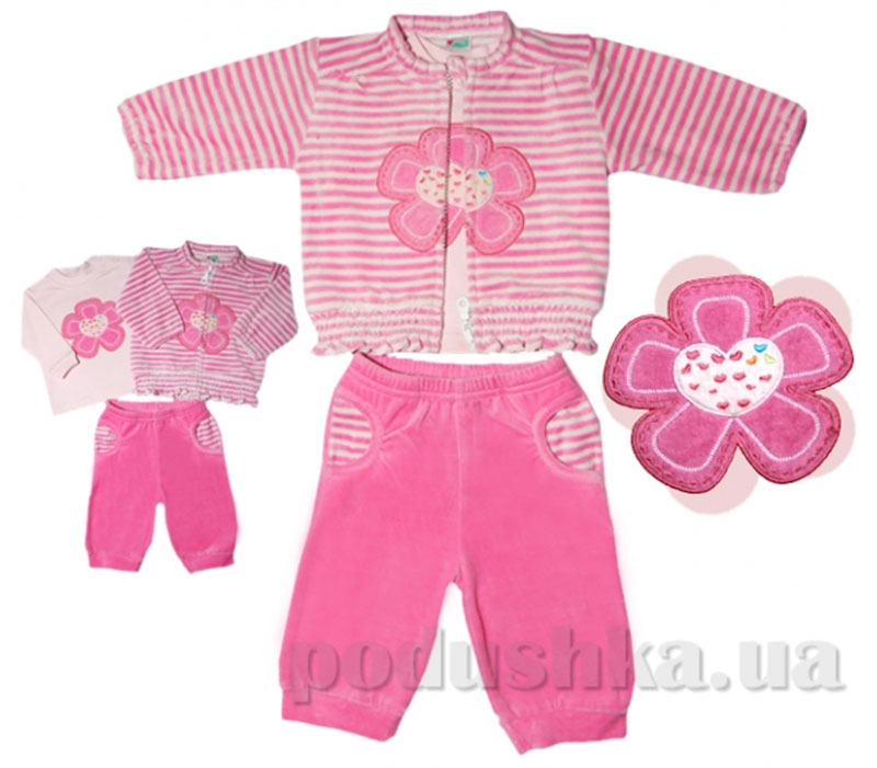 Комплект Цветы розовый велюр Volypok V9041-80