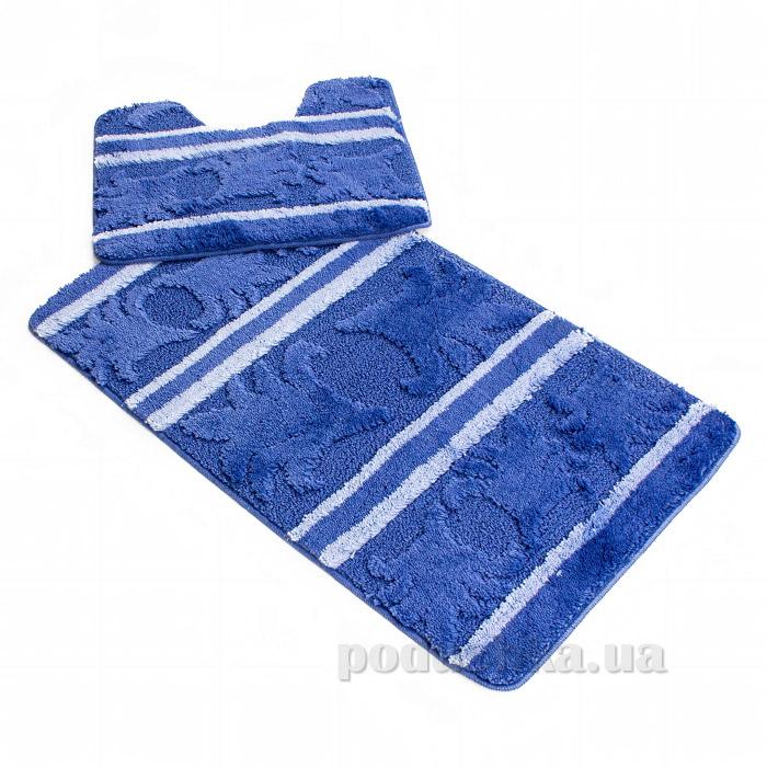 Комплект в ванную Ковротекс Megga-1 синий