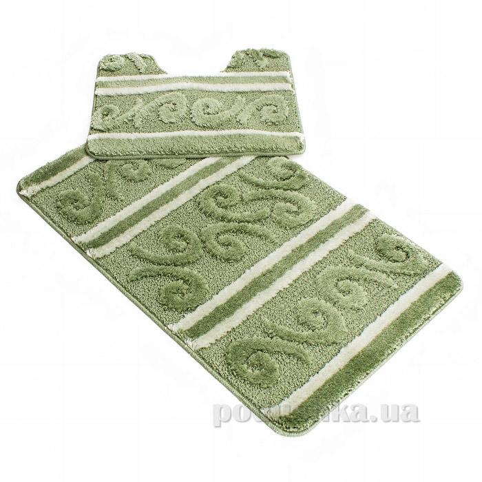 Комплект в ванную Ковротекс Megga-2 зелёный