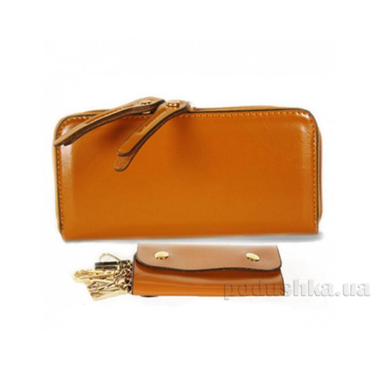 Комплект женский кошелек + ключница Traum 7231-01