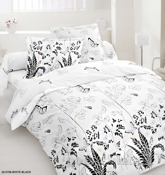Комплект постельного белья Sergio 20-0758-white black бязь