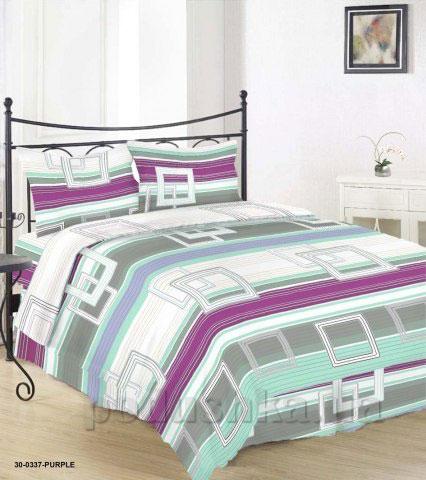 Комплект постельного белья Sergio 30-0337-purple бязь