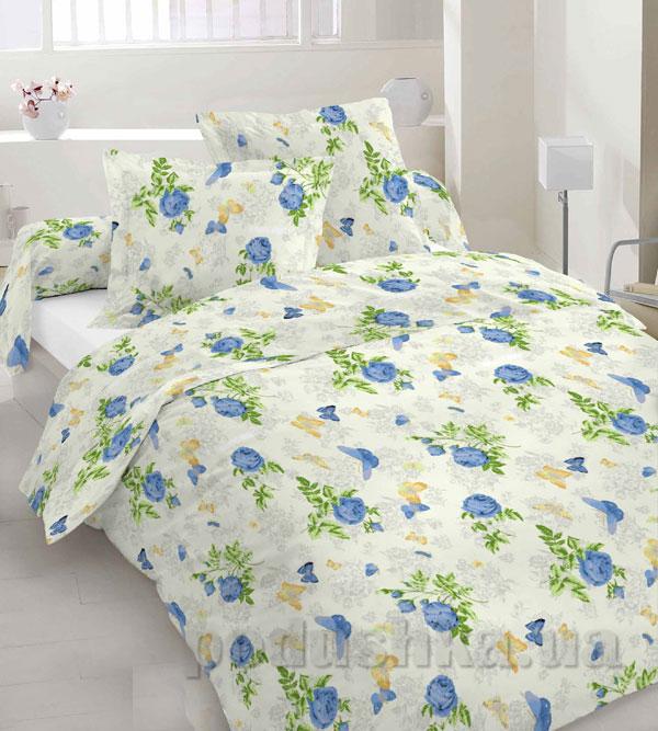 Комплект постельного белья Sergio 40-0065-blue бязь