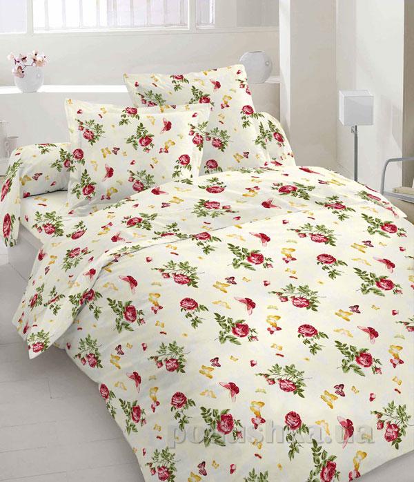 Комплект постельного белья Sergio 40-0065-bordo бязь