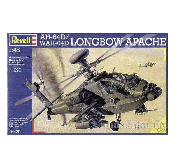 Конструктор Боевой вертолет Apache AH-64 D Brit. Army update 1:48 Revell 04420   Revell Controll
