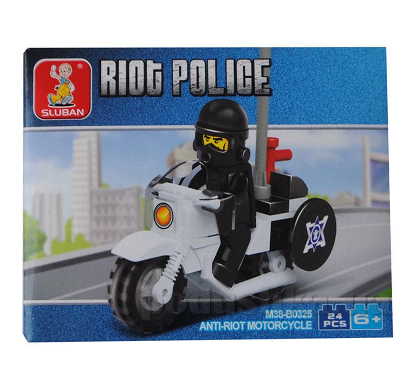 Конструктор для мальчиков городская серия Полицейский Sluban M38-B0325R