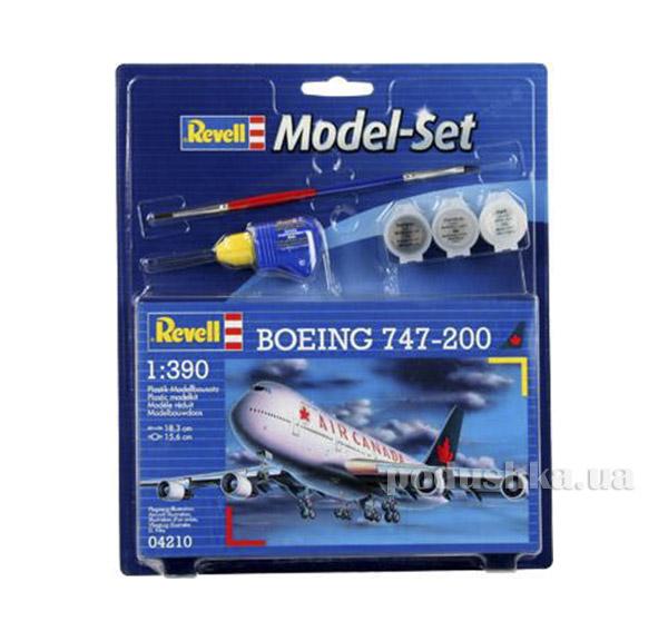 Конструктор Model Set Самолет Boeing 747-200 1:390 Revell 64210   Revell Controll