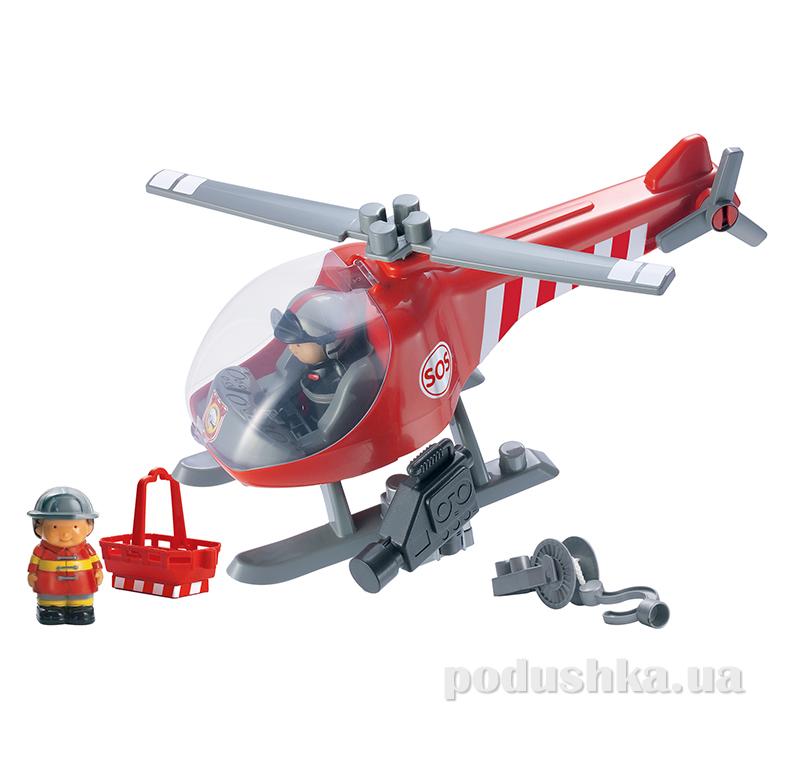 Конструктор Пожарный вертолет с людьми 16 элементов Ecoiffier 3214