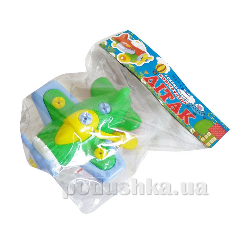 Конструктор развивающий для ребенка Самолет Toys Plast 39-7-3247