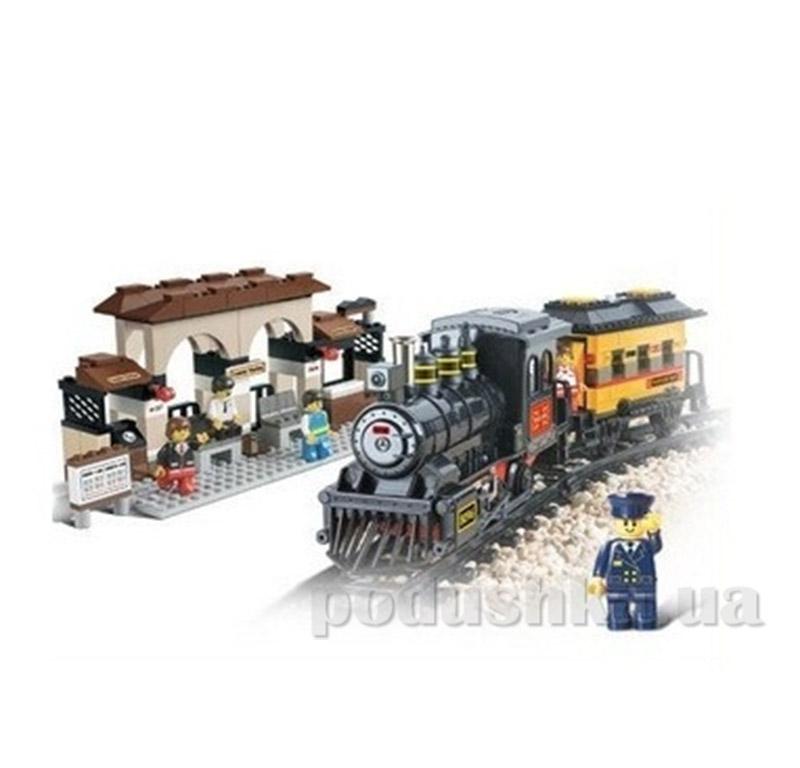 Конструктор Sluban 620051/M 38 B 0235 Железнодорожный вокзал