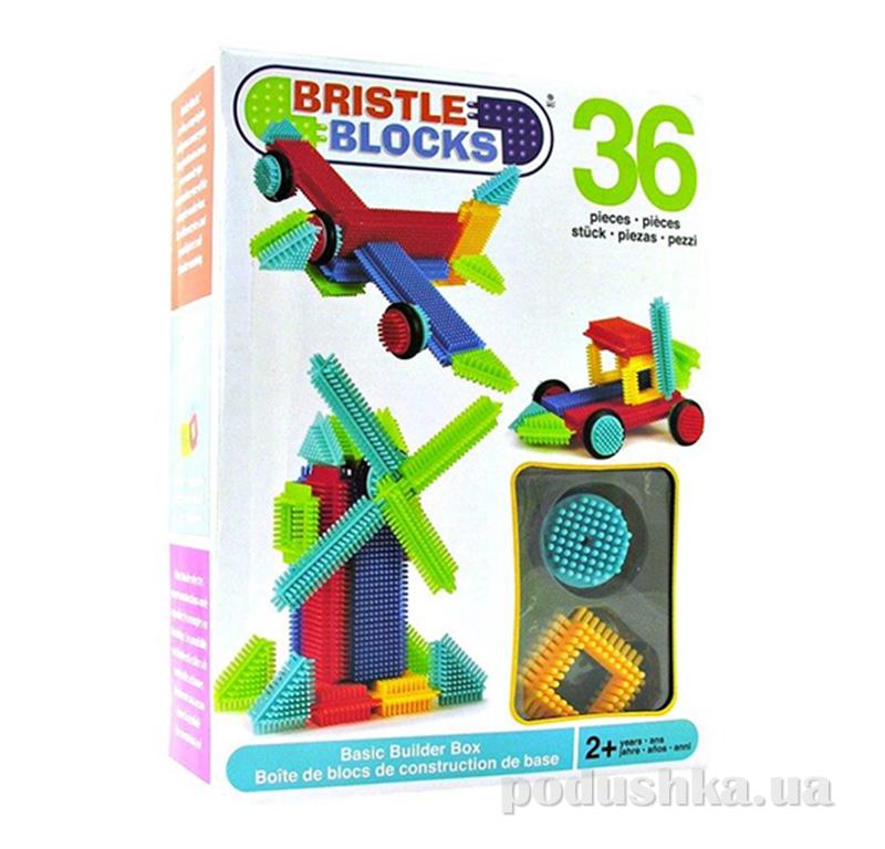 Конструктор-бристл Строитель 36 деталей Bristle Blocks 3099Z