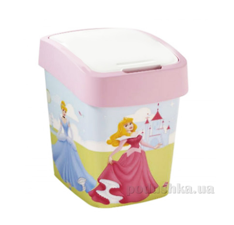 Контейнер для мусора Деко Flip Bin Curver 02171-Р Принцессы