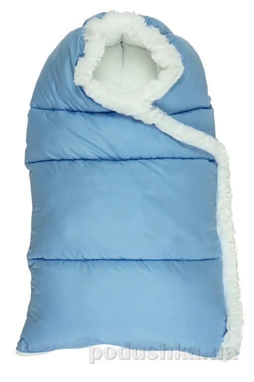 Конверт на молнии Пуховичок Руно 715У голубой  размер М (от 0 до 6 месяцев) Руно