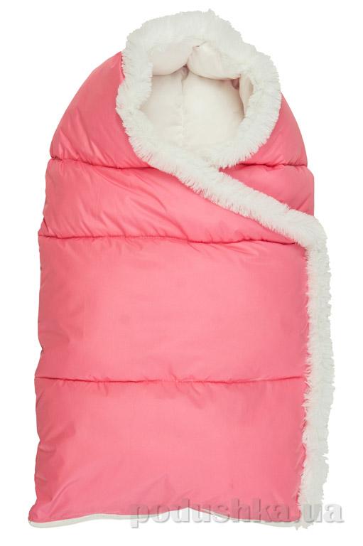 Конверт на молнии Пуховичок Руно 715У розовый  размер М (от 0 до 6 месяцев) Руно