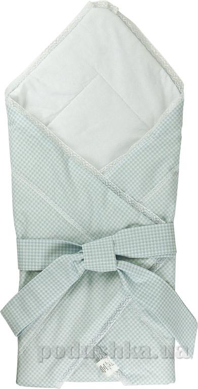 Конверт-одеяло Руно 957 голубой с бантом