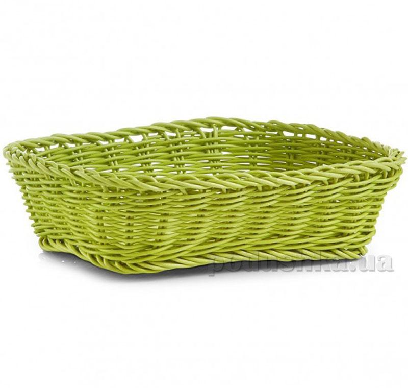 Корзина для хлеба Zeller 24х18x7 см G18060 зеленая