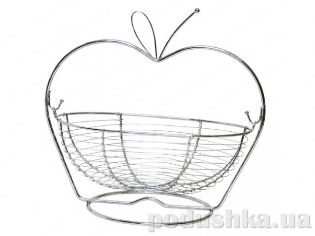 Корзинка для фруктов в форме яблока Gipfel (хромированный железный прут)