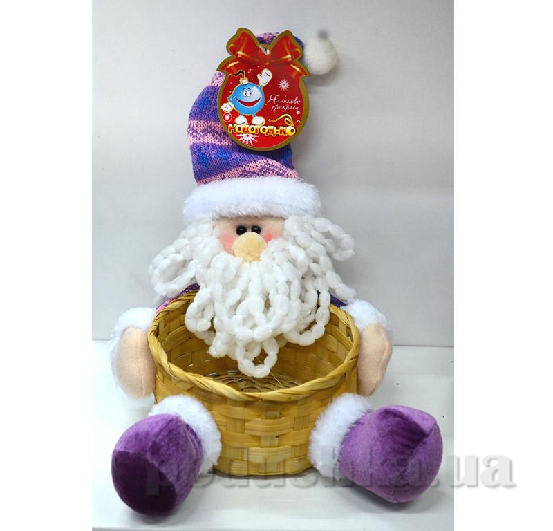 Корзинка Санта Клаус Новогодько 800689