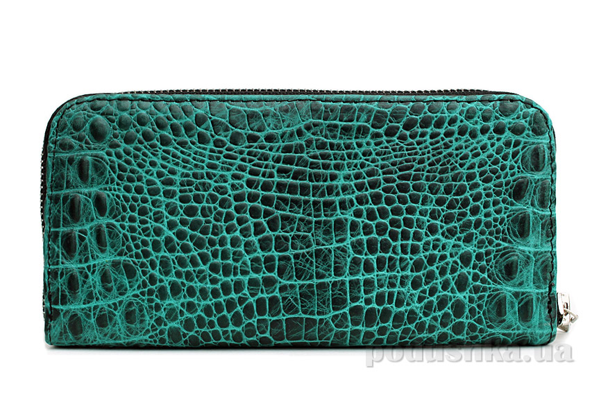 Кошелек кожаный Poolparty Crocodile wallet green