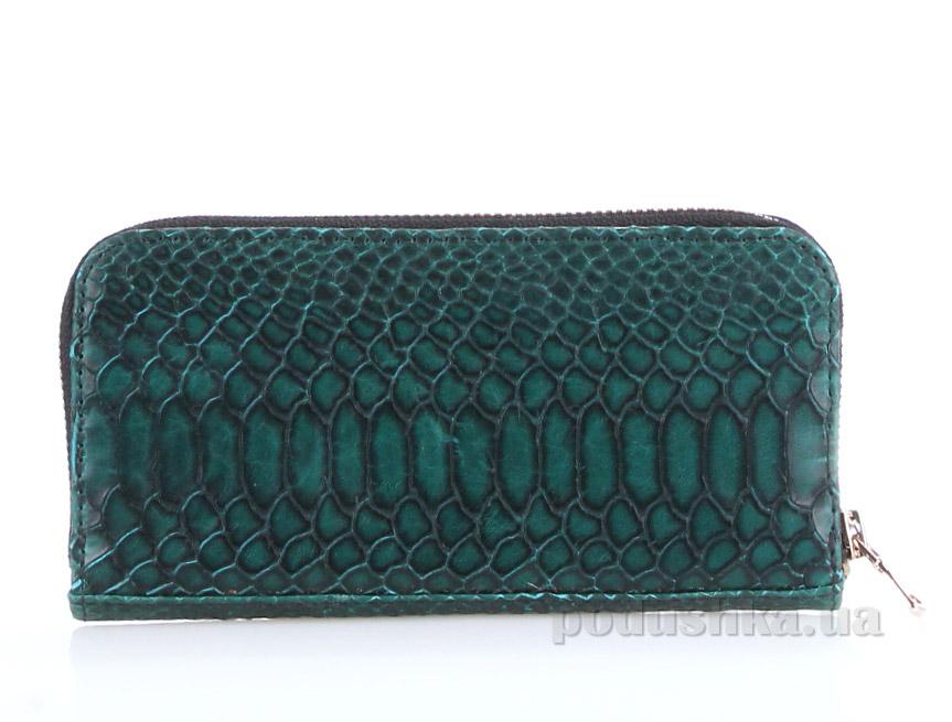 Кошелек кожаный Poolparty Snake wallet green