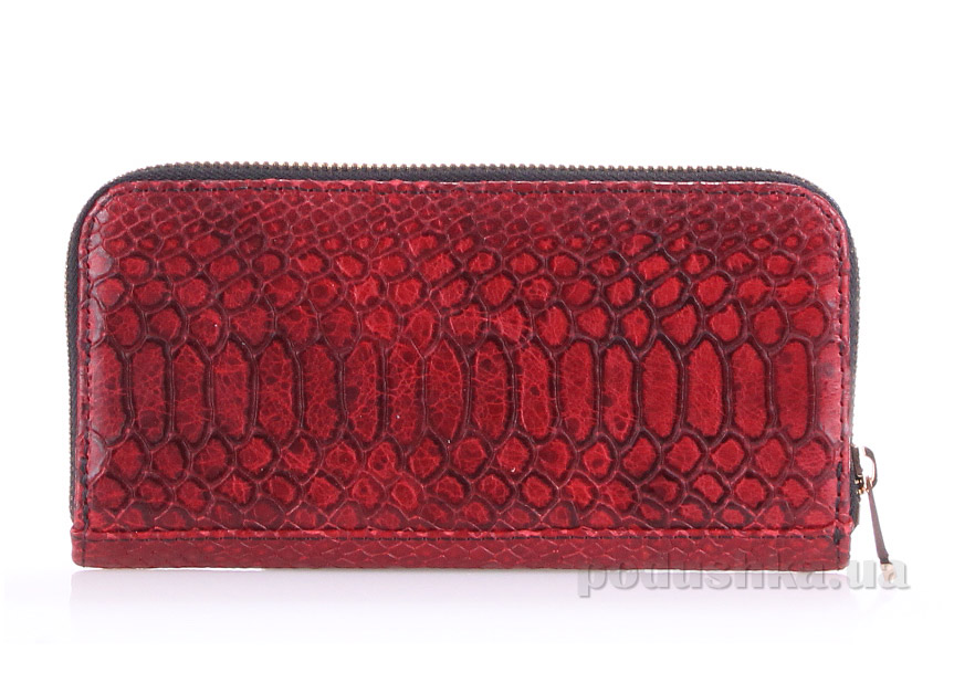 Кошелек кожаный Poolparty Snake wallet red