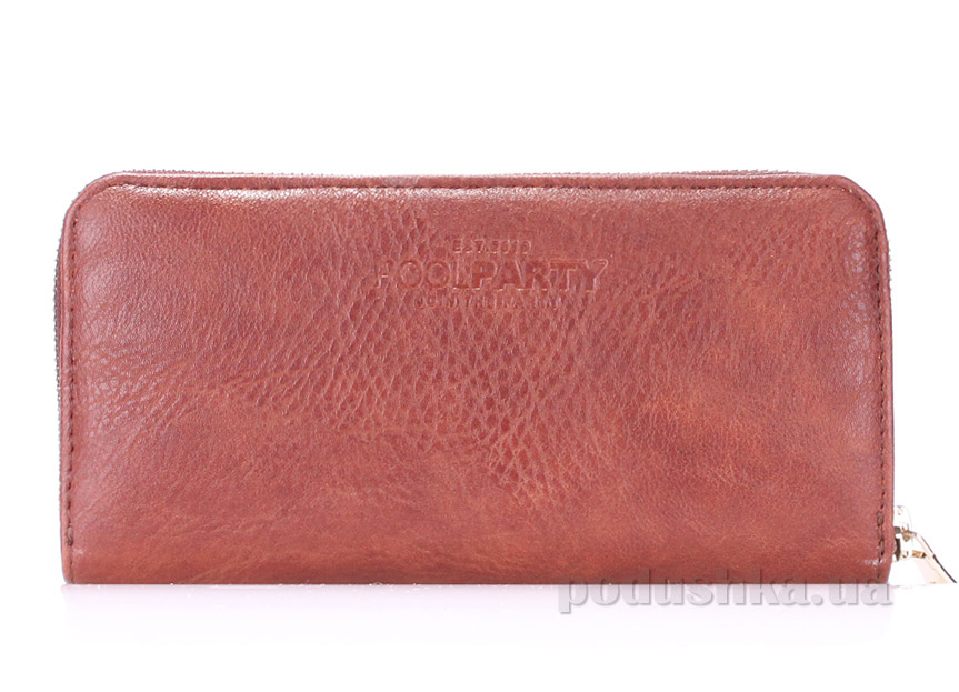 Кошелек Poolparty Brown PU wallet