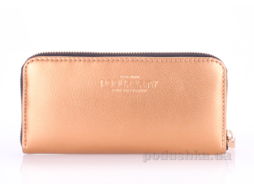 Кошелек Poolparty Golden PU wallet