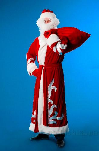 Костюм Деда Мороза велюр KD92 Украина карнавальная